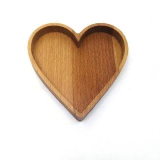 Love masif ahşap çerez tabağı, aşk, kalp