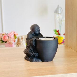 dekor buddha tealight mumluk siyah