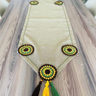 runner masa örtüsü keten el yapımı